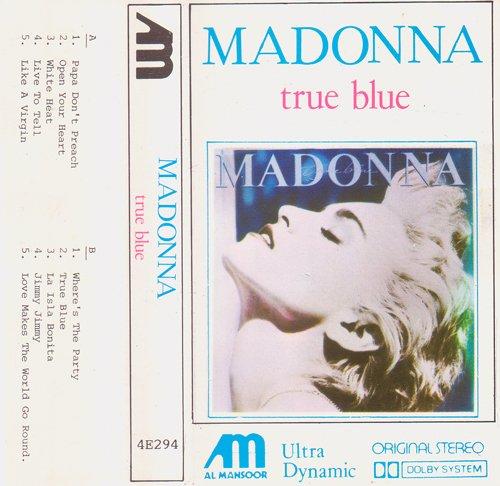 True Blue cassette album