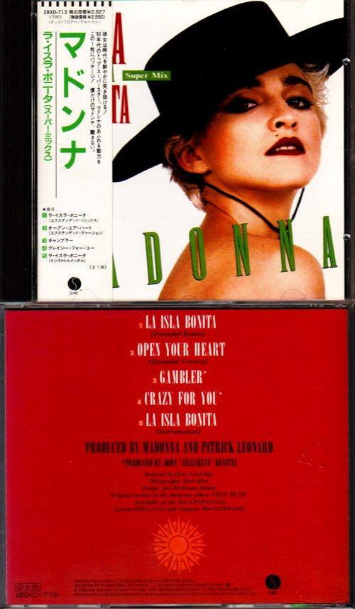 La Isla Bonita First Pressing Japanese CD EP